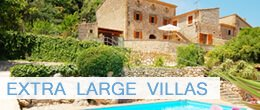 Extra large villas in Pollensa, Mallorca. Villas for 10 and 12 people