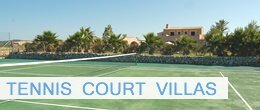 Villas with tennis court in Pollensa, tennis villas Mallorca